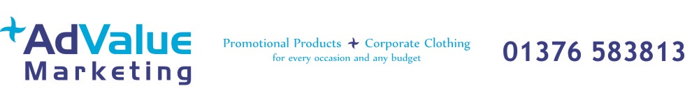 AdValue Marketing, promotional gifts and corporate clothing, 01376 583813